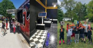 Video game truck, laser tag, karaoke party in Kansas City