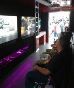 Video game truck, game bus in Kansas City