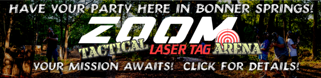 Tactical laser tag party arena in Bonner Springs and Kansas City